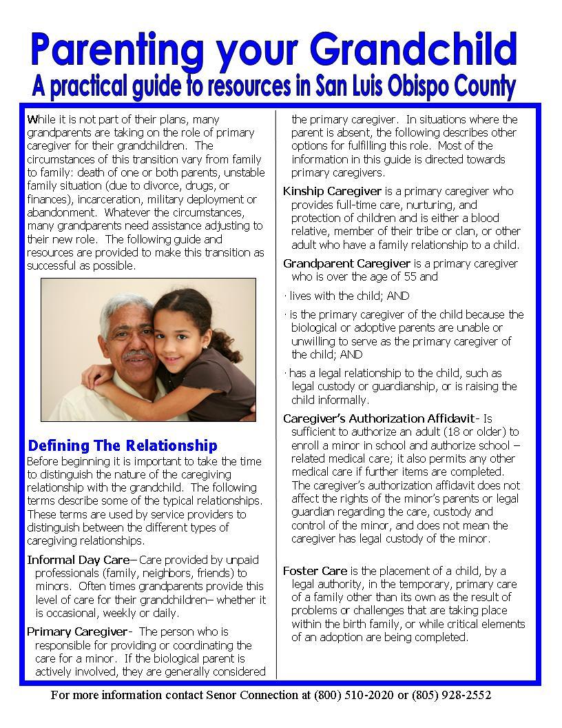 Grandparent Caregiver Information Program